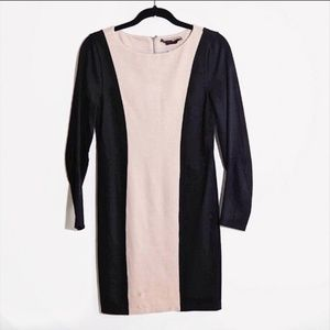 Alice + Olivia Employed Two-tone long sleeve dress